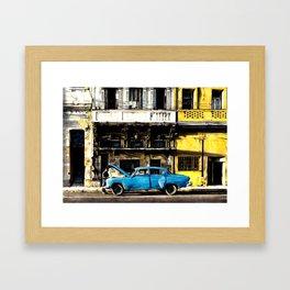 THE SUNNY STREET OF LA HABANA Framed Art Print