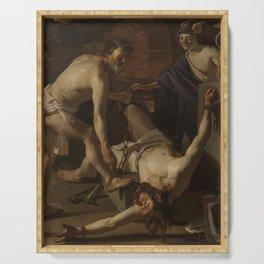 Dirck van Baburen - Prometheus Being Chained by Vulcan Serving Tray
