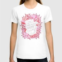 fitzgerald T-shirts featuring Zelda Fitzgerald – Pink on Charcoal by Cat Coquillette