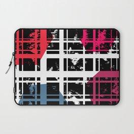 Brushstrokes   Lines & Hexagons Laptop Sleeve