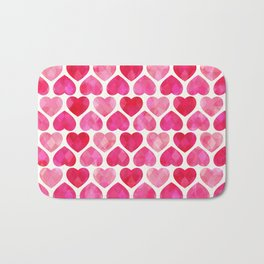 RUBY HEARTS Bath Mat