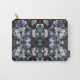 Blue pansies mirrored pattern Carry-All Pouch