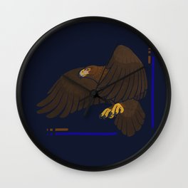Aquila chrysaetos for wit Wall Clock