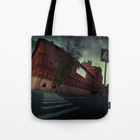 surrealism Tote Bags featuring surrealism by Chirko.Roman