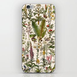 Adolphe Millot - Plantes Medicinales B - French vintage poster iPhone Skin