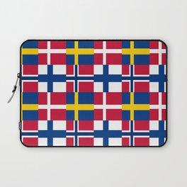Flags of scandinavia2: finland, denmark,swede,norway Laptop Sleeve