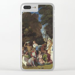 Giovanni Bellini and Titian The Feast of the Gods 1514 1529 Painting Clear iPhone Case