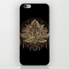 Lotus Black & Gold iPhone Skin