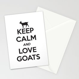 Keep Calm And Love Goats Stationery Cards