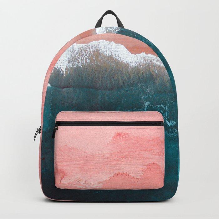 Turquoise Sea Pastel Beach II Backpack