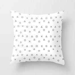 gaming pattern - gamer design - playstation controller symbols Throw Pillow