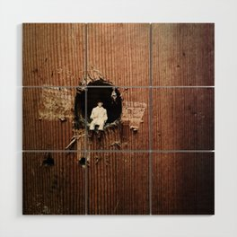House Disaster Art - The Hole World Wood Wall Art