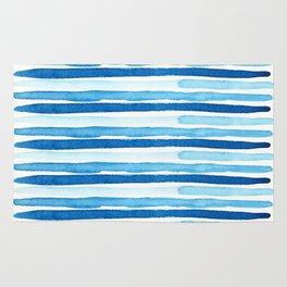 Blue Watercolour Stripes Rug