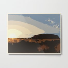 Ayers Rock (no writing) Metal Print