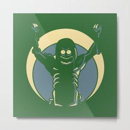 Pickle Rick Metal Print