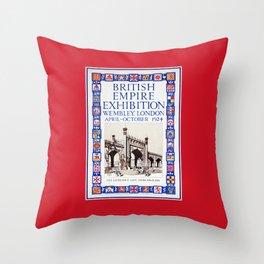 1924 British Empire Exhibition Wembley London Throw Pillow