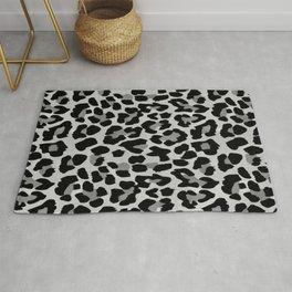 Grey Leopard Rug