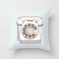 Phone Call Throw Pillow
