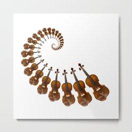 Stradivarius violin spiral music Metal Print