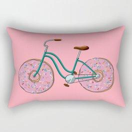 Donut Bicycle Rectangular Pillow