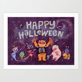 Halloween Monster Mash Art Print
