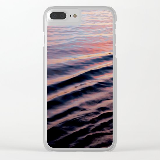 PINK RIPPLES Clear iPhone Case