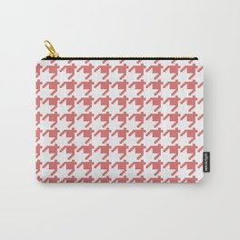 AFE Coral Houndstooth Carry-All Pouch