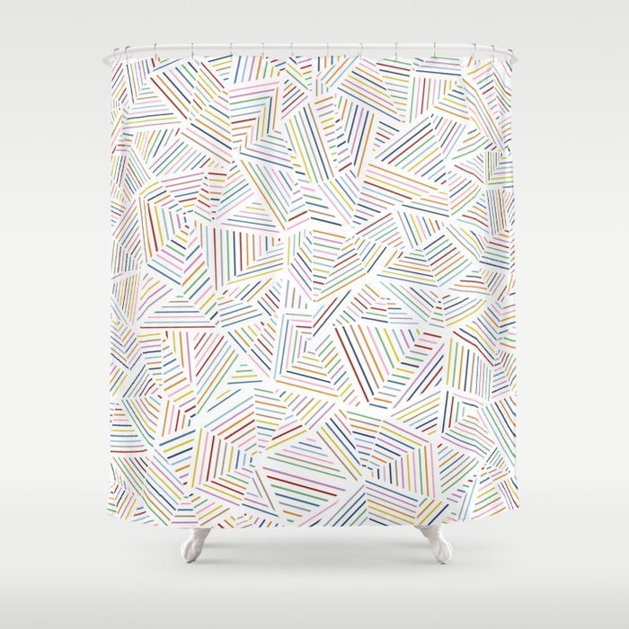 Abstraction Linear Rainbow Shower Curtain by projectm | Society6
