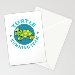 Turtle Running Team I Funny Slow Runner Gift Idea Stationery Cards