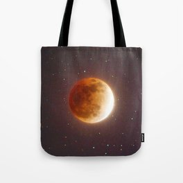 Lunar Eclipse Blood Moon Tote Bag