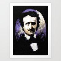 edgar allan poe Art Prints featuring Edgar Allan Poe by Rouble Rust
