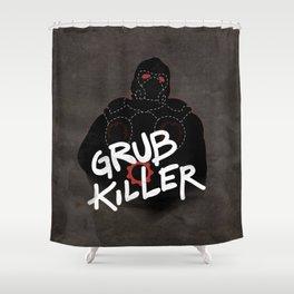 Grub Killer (Red) Shower Curtain