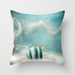 Minimal Christmas Throw Pillow