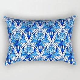 Renaissance gryphon seamless pattern Rectangular Pillow