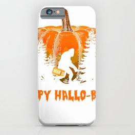 Happy Hallo-Beer Funny Bigfoot Sasquatch Beer Halloween Gift T-Shirt iPhone Case