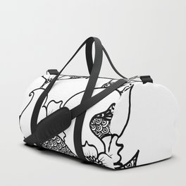Amphora - White Black Duffle Bag