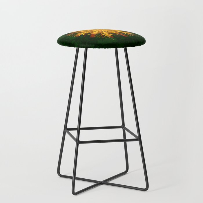 Forest Fire Flake Bar Stool