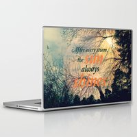 sunshine Laptop & iPad Skins featuring Sunshine by Graphic Tabby