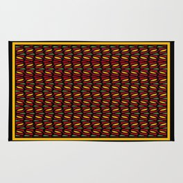 Abstract Leaves - Gold and Burgundy Rug