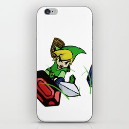 Cutting Grass is NOT a waste of time: Legend of Zelda Wind Waker iPhone Skin