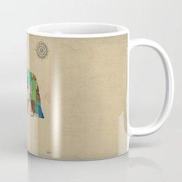 nebraska state map Coffee Mug