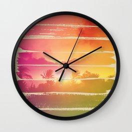 Sugar Beach Wall Clock