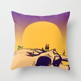 Current disruption Throw Pillow