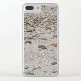 Stones on the Beach Clear iPhone Case