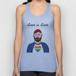 Beard Boy: Pride 4 Unisex Tank Top