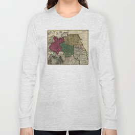 Map of Russia (1704) Long Sleeve T-shirt