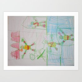 Ninja Turtles trapped by Shredder! Art Print