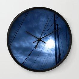 sunset and sailing Wall Clock