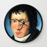 beethoven Wall Clocks featuring Beethoven by SuchDesign