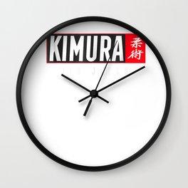 Kimura Jiu Jitsu Shirt BJJ Brazilian Martial Arts Wall Clock